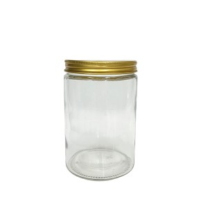 Best Price for Glass Dessert Jars - 25oz 750ml cylinder round glass preserving jar with lid wholesale – EASYPACK