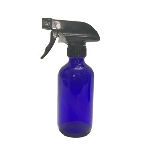 500ml 16oz cobalt blue boston round glass trigger spray bottle with pump for essential oils
