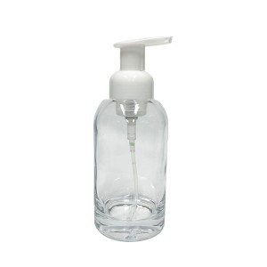 12oz 350ml foaming hand soap dispenser pump bottle glass for sanitizer washing