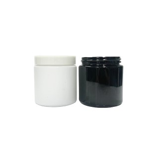 100g 100ml glossy black color straight sided glass cream jar