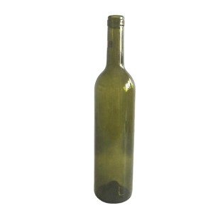 750mL Antique Green Bordeaux Wine Bottles