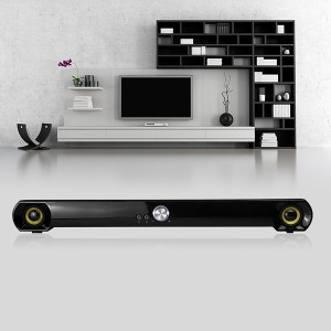 Home Theater Audio mini Sound Bar, Wired & Wireless Outdoor/Indoor Bluetooth Stereo Speaker(SP-600X-8)
