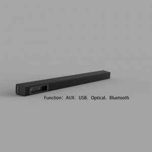 Eyin Soundbar, 32-Inch 2.0 Channel Sound Bars with Remote Control for TV Wireless Bluetooth Speaker Home Audio Sound Bar, Support Optical Bluetooth AUX and USB, Wall Mountable.(SP-619)