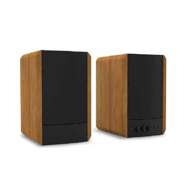 wooden super bass USB bluetooth 2.0ch stereo audio sound Hi-Fi hifi bookshelf speaker(BT-200) Featured Image