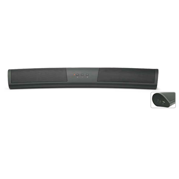 Curved mini  Bluetooth soundbar Music car mini speaker home soundbars for computer laptop (SP-600X-12) Featured Image