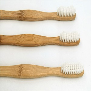 Bamboo toothbrush uses nylon pbt wire
