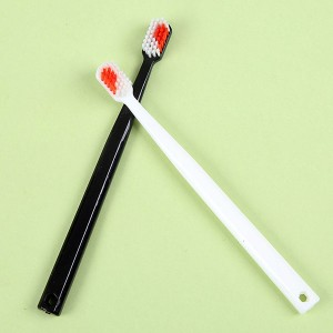 Couple filament soft bristles toothbrush