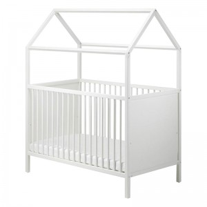 EU Standard Baby House Bed Frame Baby Cot