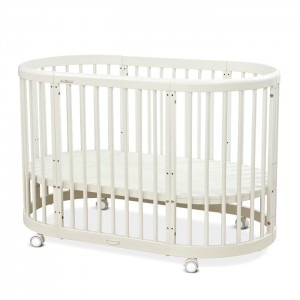 Factory source Wood Baby Cribs - 5in1 Oval Baby Cot Multifunctional Round Baby Bed – Faye