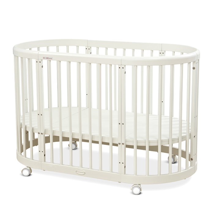 5in1 Oval Baby Cot Multifunctional Round Baby Bed Featured Image