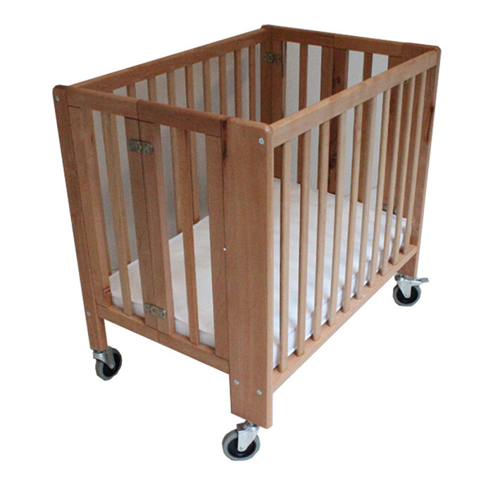Hotel Use Foldable Baby Cot with Big Wheels Featured Image