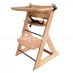 Super Lowest Price High Chair Baby Feeding - Bentwood Height Adjustable EU Standard Baby Highchair – Faye
