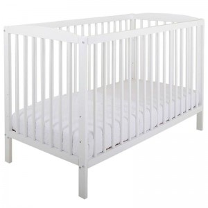 120x60cm European Standard 2in1 Solid Wooden Baby Cot