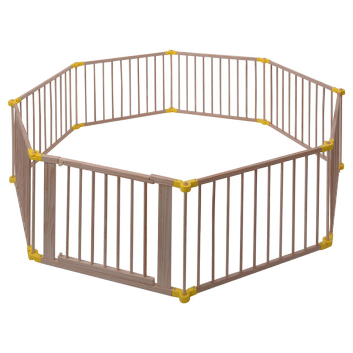 8Panel European Standard Foldable Wooden Baby Playpen Featured Image
