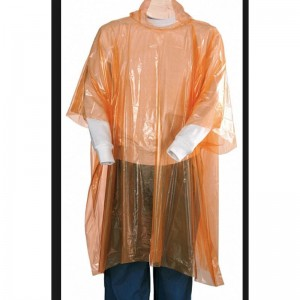 Disposable PE emergency rain poncho USD0.12-USD0.3