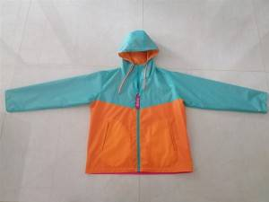 Zipper hoodie lightweight outdoor custom waterproof windbreaker