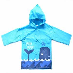 Customized cute cartoon printing PVC raincoat for children