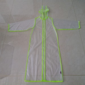 Environmental Friendly EVA Plastic Raincoat