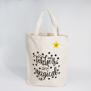 Factory supply premium natural cotton tote bag with OEM logo