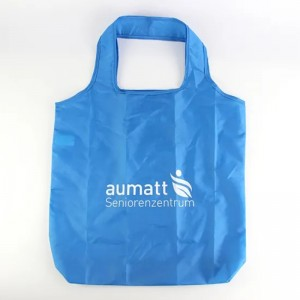 Custom Logo Reusable Foldable RPET Eco Friendly Shopping Bag