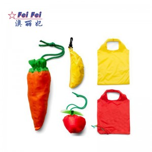 Factory supplier Foldable cute shopping Bags fruit Custom shape