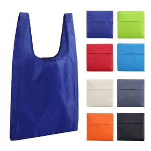 Large Recycle Waterproof and Machine Washable RPET foldable shopping Bags