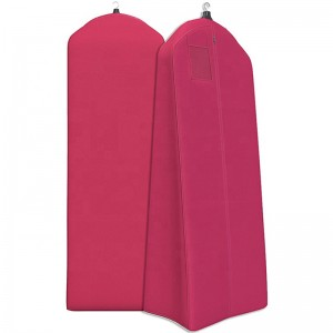 Long Style Luxury 200cm Non Woven /  Polyester Zipper Wedding Gown Cover Garment Bag