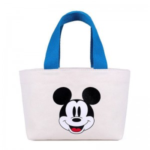 Reusable Cotton Canvas shopping tote bags with custom printed logo