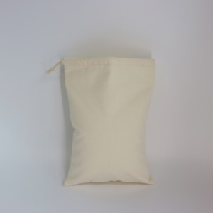 Reusable Cotton drawstring bags with custom printed logo