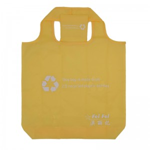 Reusable foldable shopping tote bag cheap recycled RPET shopping bag