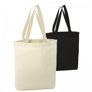 Reusable plain ladies handbag cotton canvas shopping tote bag