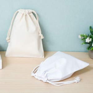 Small organic cotton canvas drawstring bag sack dust drawstring cloth fabric bag with logo