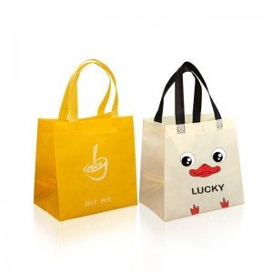 Ultrasonic one color printed cheap promotional supermarket used non-woven bags
