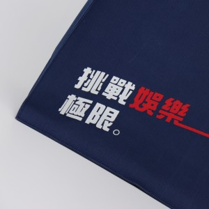 100% 600 Denier polyester customized logo silk printed shopping bag