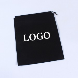 eco friendly ultrasonic string customised recycled non woven drawstring bag with logo