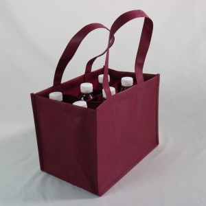 pp non-woven fabric 6 bottles wine carrier bag