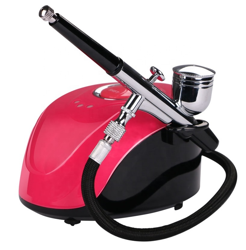 Hot Sale Multi-Purpose Air Brush Compressor Set Kits Nail Tattoo Cake Hobby Makeup Airbrush