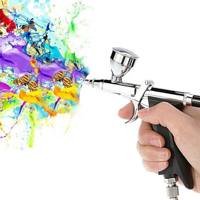 Double Action Gravity Feed  Spray Gun Used For Body Painting / Cake Decorating / Nail Painting Airbrush Gun