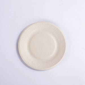 ZZ Eco Products 6 Inch Round Sugarcane Bagasse Plates, Disposable and Eco-Friendly, Pack of 1000