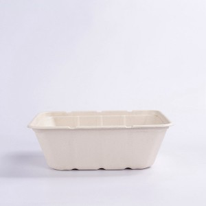 ZZ Eco Products 1500ml Rectangle Biodegradable Bagasse Food Container