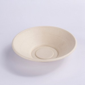 ZZ Eco Products Compostable Tableware Eco-Friendly HG-24 OZ Round Bowl Salad Bowl, 4/125