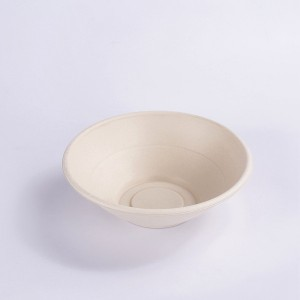 ZZ Eco Products Compostable Tableware Eco-Friendly HG-32 OZ Round Bowl Salad Bowl, 4/125