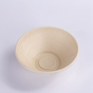 ZZ Eco Products Compostable Tableware Eco-Friendly HG-40 OZ Round Bowl Salad Bowl, 4/125