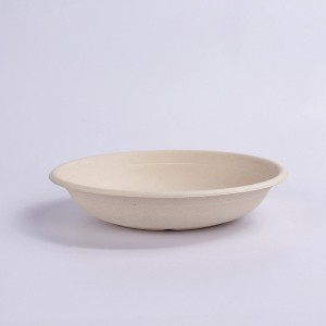ZZ Eco Products Compostable Tableware Biodegradable 24 OZ Natural Bagasse Bowl, 500pcs/Carton