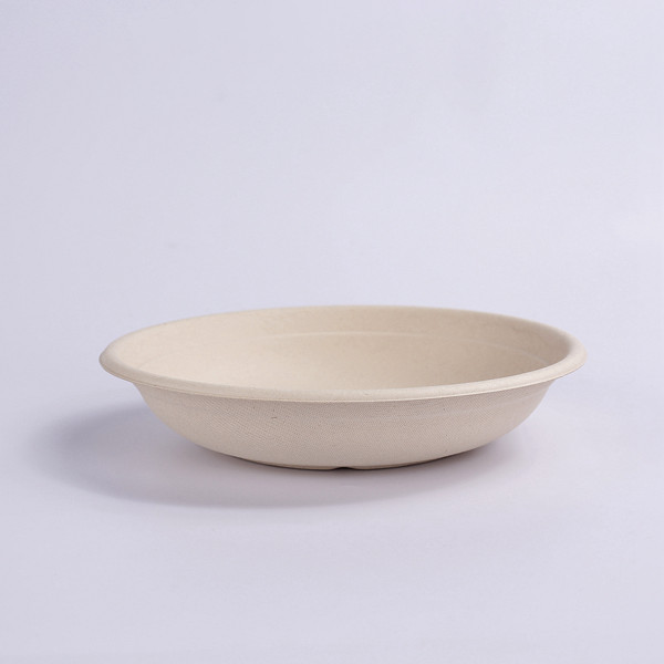 ZZ Eco Products Compostable Tableware Biodegradable 24 OZ Natural Bagasse Bowl, 500pcs/Carton Featured Image