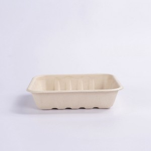 ZZ Eco Products TAN Fiber Trays- 6″ X 6″ X 1.4″, 4/125