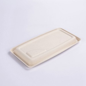 ZZ Eco Products TAN Fiber Trays- 9″ X 5″ X 0.6″, 4/125