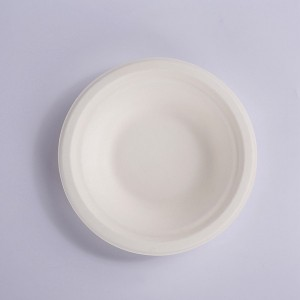 ZZ Eco Products 400ml Bagasse Bowl, Round, White, Compostable-1,000ct