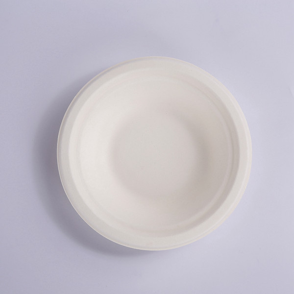 ZZ Eco Products 400ml Bagasse Bowl, Round, White, Compostable-1,000ct Featured Image