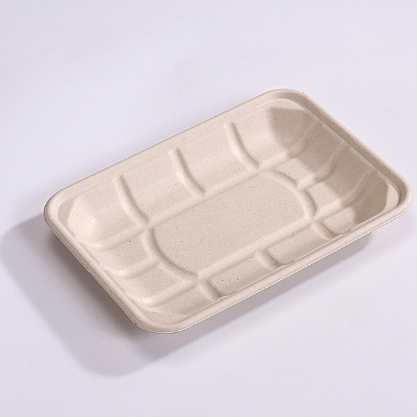 ZZ Eco Products TAN Fiber Meat Trays- 8 1/3″ X 6″ X 1″, 4/125 Featured Image